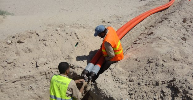 HDD Kuwait Workers and Pipeline